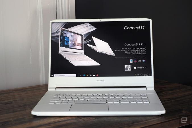 Hands-on with Acer's updated ConceptD 7 Pro (2020)