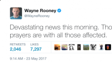 Manchester concert attack: Wayne Rooney leads sport figures' support for families affected by explosion