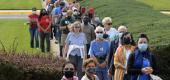 A very long line of voters wait to cast their ballots at the Fairfax County Government Center. (Getty Images)