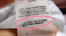 Popular fashion brand gives sexist washing instructions on label