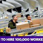 Amazon to hire 100,000 workers