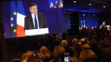 French presidential candidate Fillon meets Merkel in Berlin