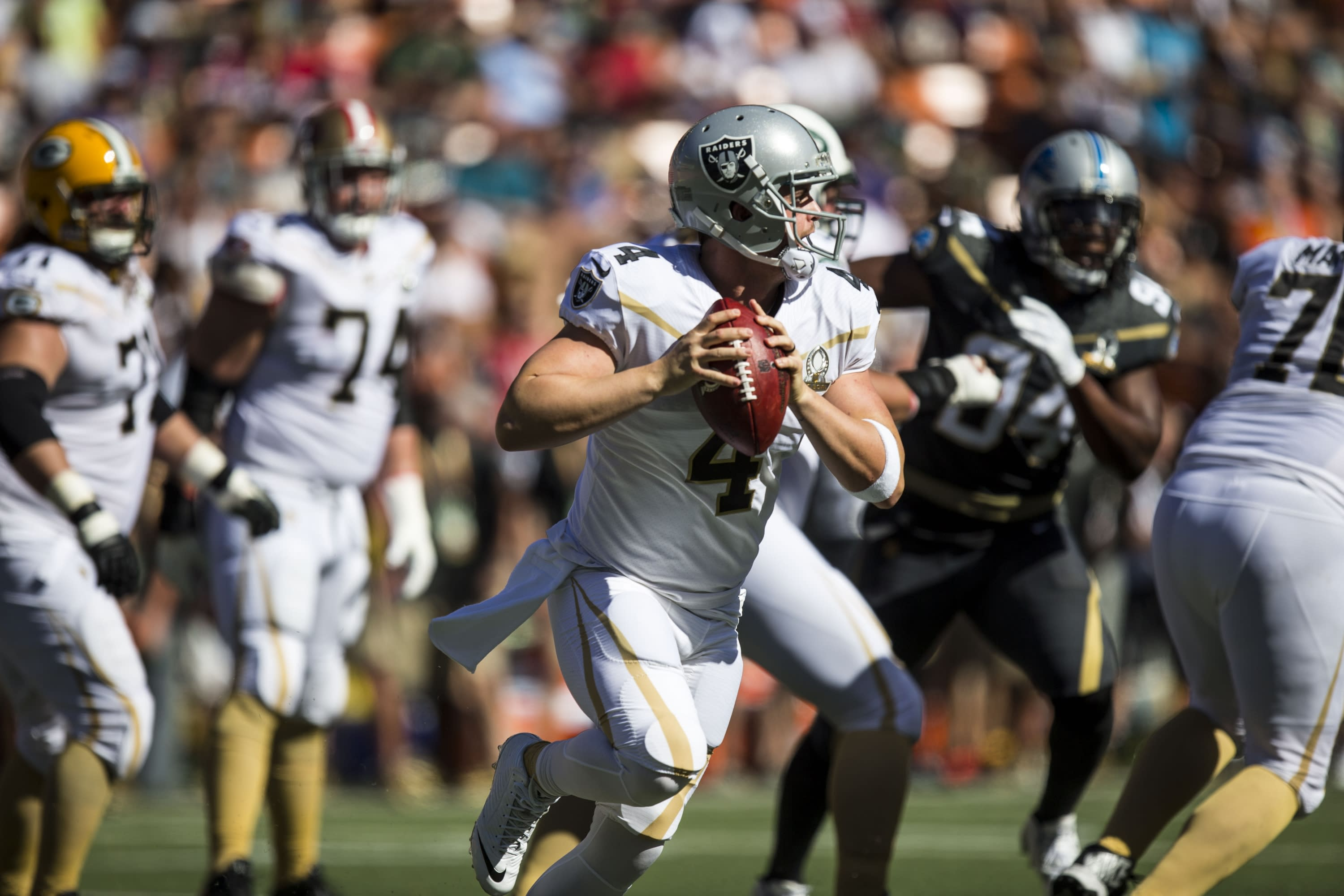 premium selection 83f5b 09e68 Even for Pro Bowl, this throw by Raiders' Derek Carr was a dime