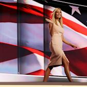 Donald Trump's daughter Ivanka sports a sheath dress from her fashion label at RNC