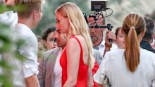 Sophie Turner Wears High Heels and a Red Dress to Her Rehearsal Dinner