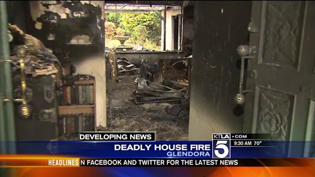 Elderly Man Rescued, Wife Killed in Glendora House Fire