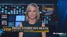 Ross stores beats on top and bottom