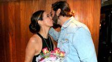 Após espetáculo de dança, Fátima Bernardes ganha flores de Túlio Gadêlha