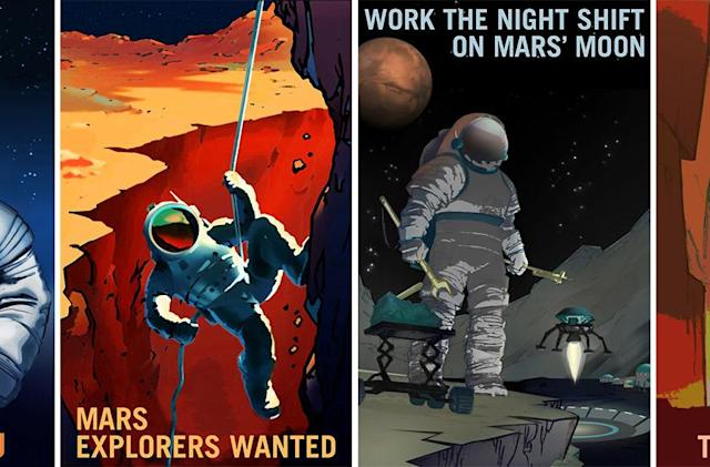 NASA's recruitment posters are looking for Mars explorers