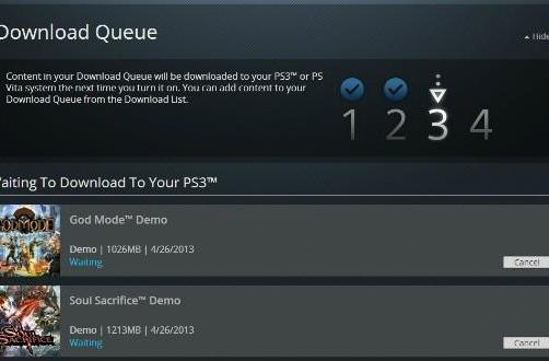 PSN web store enables queue downloads upon PS3 startup