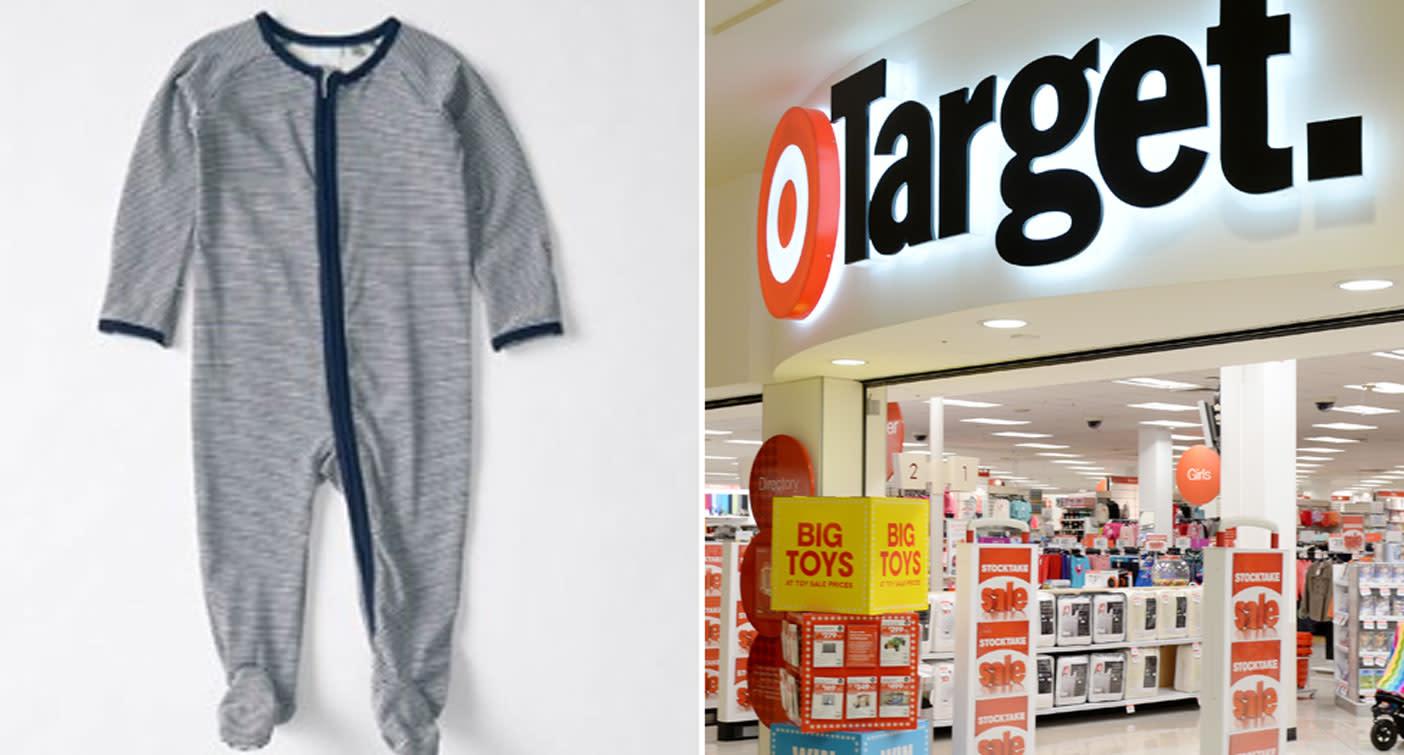 0681639624 Target recalls  10 two-way zip coveralls over choking fears