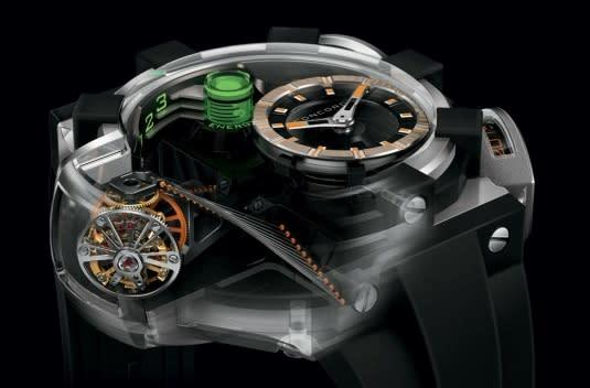 Concord C1 QuantumGravity with liquid green energy indicator looks great with your power ring