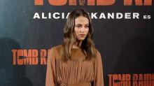 Alicia Vikander takes red carpet style in her stride on 'Tomb Raider' promo tour