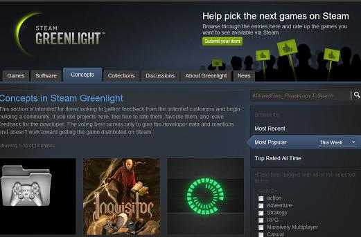 Steam Greenlight 'Concepts': Post your game without the $100 fee