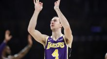 Unlikely Lakers star Alex Caruso gets the LA mural treatment