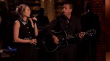 Miley Cyrus and Adam Sandler dedicate song to victims of Las Vegas tragedy on 'The Tonight Show'