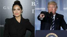 Trump já pediu a Salma Hayek para largar o namorado e ficar com ele