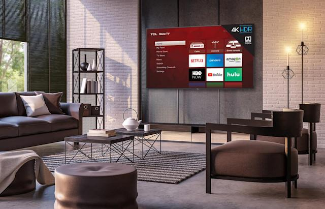 TCL's 6-Series Roku TVs sport a metal design, 4K and Dolby Vision HDR