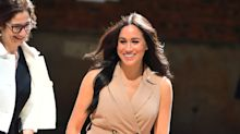 Meghan Markle wears £95 trench dress to visit the University of Johannesburg