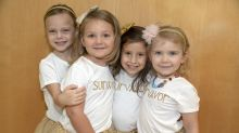 4 little girls celebrate beating cancer by remaking the photo they took while in treatment