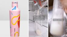 Clever TikTok hack for cleaning reusable drink bottles