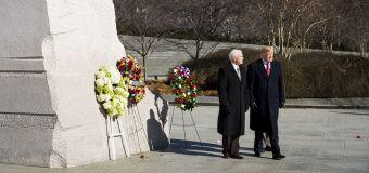 Trump visits MLK Memorial after skipping trip in 2018
