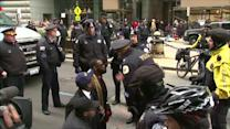 Protesters arrested, bond set for Chicago police officer