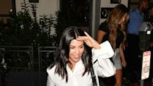 Kourtney Kardashian Wore a Crop Top and Some Very Steamy Plastic Shoes to Church