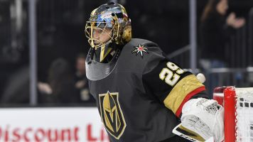 Fleury wins first game back since father's death