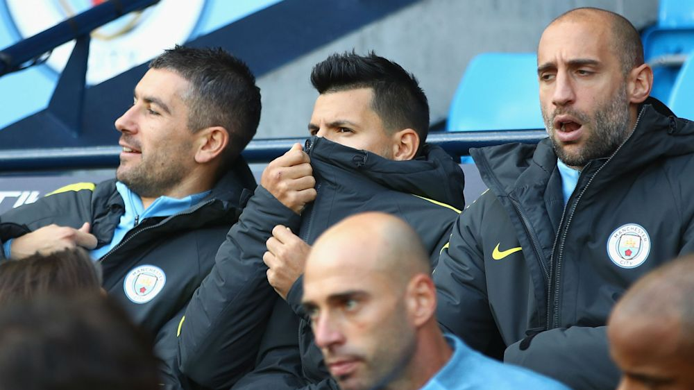 Being benched 'not a problem' for Man City striker Aguero