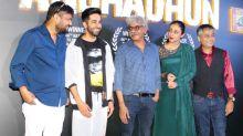 Pics: Ayushmann, Tabu celebrate Andhadhun's National Award win
