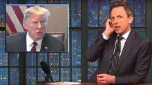 Seth Meyers Reveals Donald Trump's Oval Office Antics During Shutdown