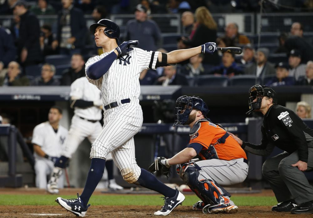 Aaron Judge was a clear bright spot on the surprising Yankees. (AP Photo/Kathy Willens)