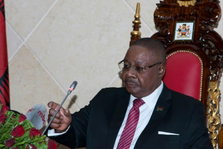 Re-run: President Peter Mutharika (AFP Photo/AMOS GUMULIRA)