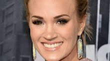 Carrie Underwood finally shares photo of her face while back in the studio