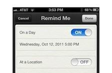 iOS 5 features: Reminders
