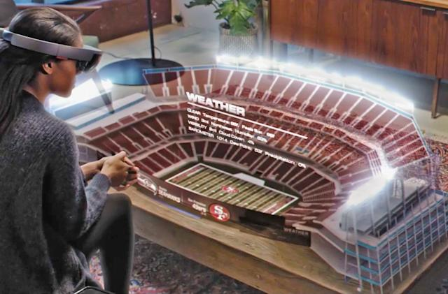 Microsoft shows how NFL fans could use HoloLens in the future