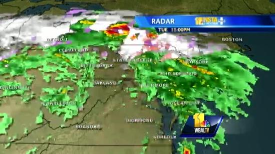 Scattered rain, snow showers expected