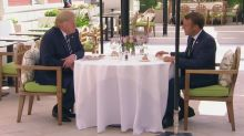 Trump and Macron discuss G7 agenda at lunch