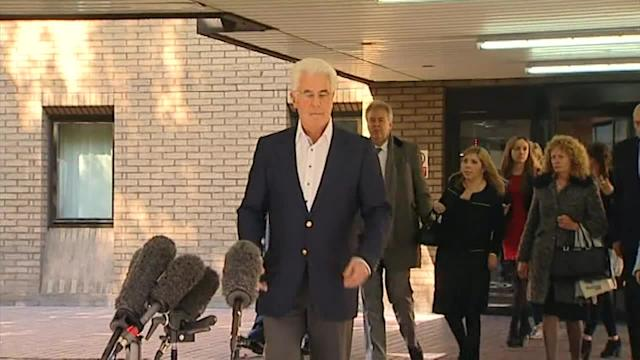 Max Clifford speaks outside court following verdict