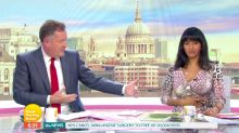 Coronavirus: GMB's Ranvir Singh keeps her distance from Piers Morgan