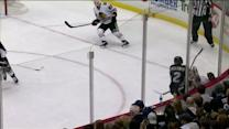 Matt Niskanen crashes Kruger on the boards