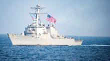 U.S. warship in operation near disputed island in South China Sea