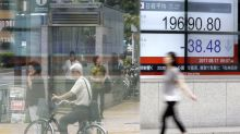 Global shares meander after upbeat Japan trade report
