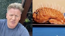 Gordon Ramsay roasted a TikTok chef who covered their chicken in toothpicks and 'turned it into a hedgehog'