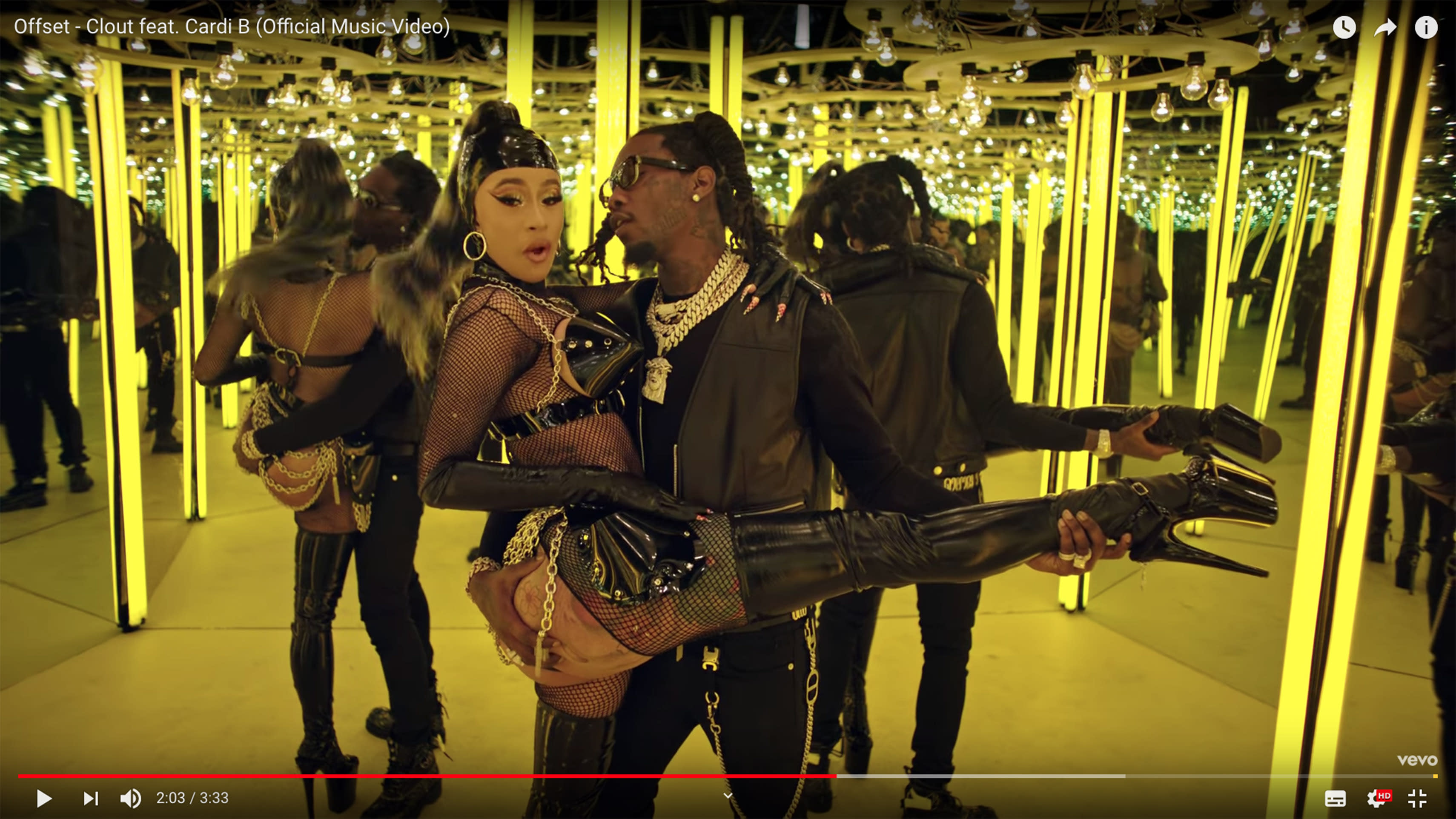 5377c5c4234e Cardi B and Offset get close in new  Clout  video