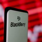 BlackBerry first-quarter revenue beats expectations, shares rise