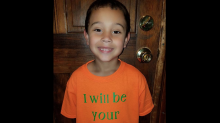 Boy, 6, wears 'I will be your friend' T-shirt to first day of school so bullied kids don't feel alone