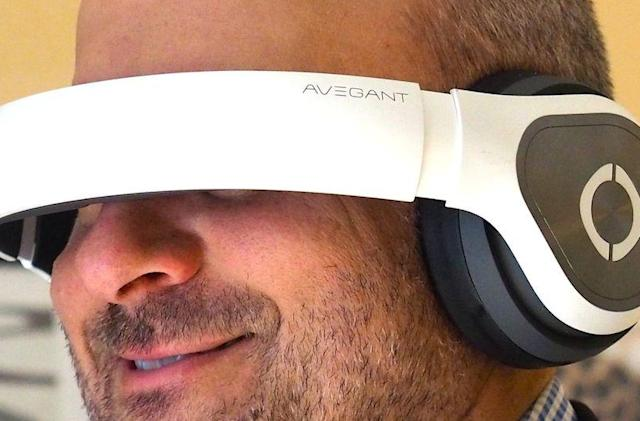 Avegant's personal theater headset looks like a pair of premium headphones