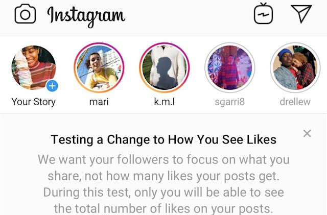 Instagram 'unintentionally' hid likes for more people today